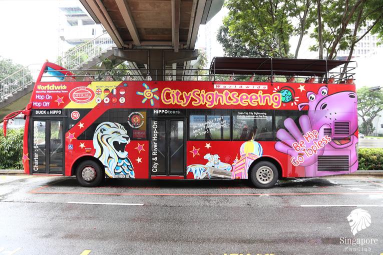 City Sightseeing บัตรเหมานั่งรถพาเที่ยวทั่วสิงคโปร์ขึ้นลงไม่จำกัด (Hop on Hop off Bus)