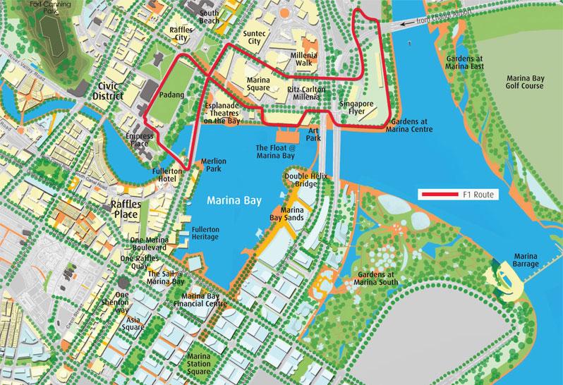 รวมสถานที่ท่องเที่ยวที่น่าสนใจในย่าน Marina Bay
